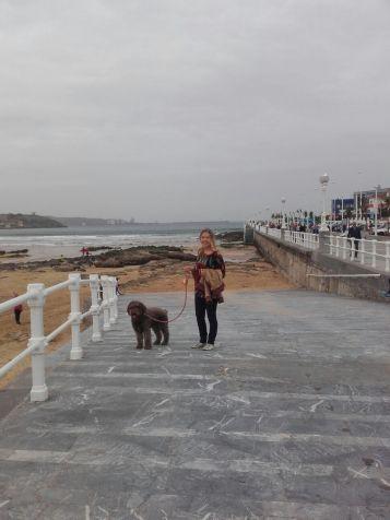 ...mit Bruma, dem Hund