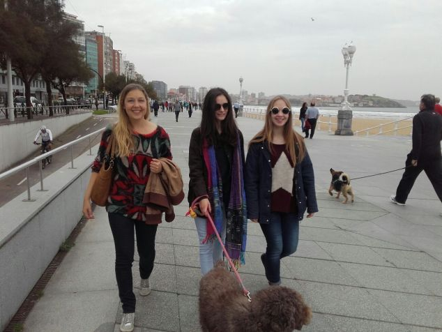 Unterwegs an der Strandpromenade...